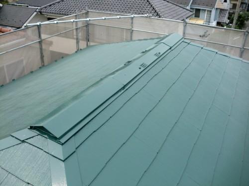 屋根塗装完了の写真
